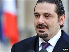 Saad Hariri in France (02 January 2009)