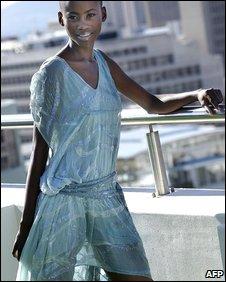 Botswana-born model Kaone Kario