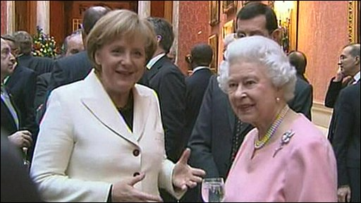The Queen with Angela Markel