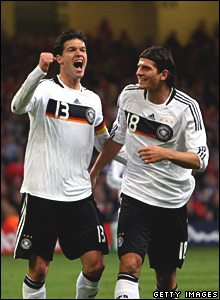 Michael Ballack, Mario Gomez, Germany
