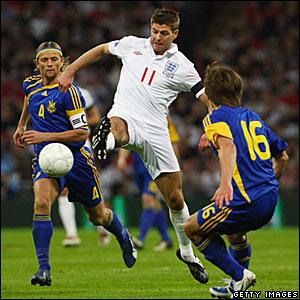 Steven Gerrard, England; Grigoriy Yarmash, Anatoliy Tymoshchuk, Ukraine
