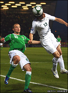 Warren Feeney, Northern Ireland; Bojan Jokic, Slovenia