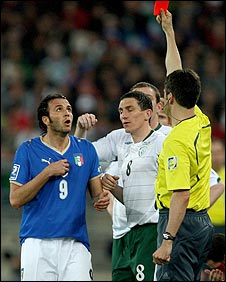 Giampaolo Pazzini was sent-off
