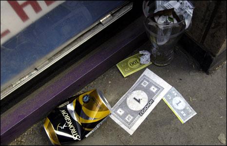 Fake money on the street