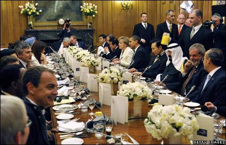 Dinner for G20 leaders at Downing Street