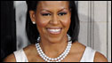 Michelle Obama arrives at 10 Dowing Street for a reception, 1 April 2009