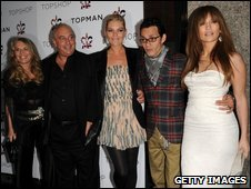 Sir Philip Green with celebrities