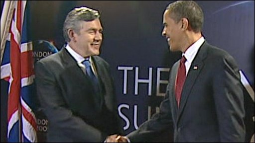 Gordon Brown and President Obama