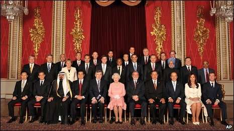 G20 leaders, with Her Majesty the Queen
