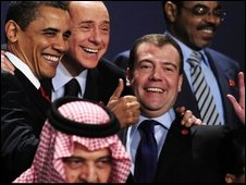 Leaders pose for a photo at the G20
