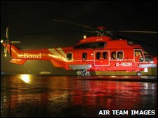 Bond Super Puma helicopter [Pic: Air Team Images]