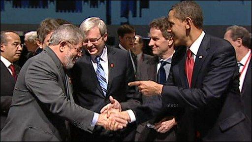 US President Barack Obama and Brazilian President Luiz Inacio Lula da Silva