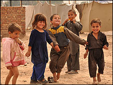 Children at Katcha Ghari camp