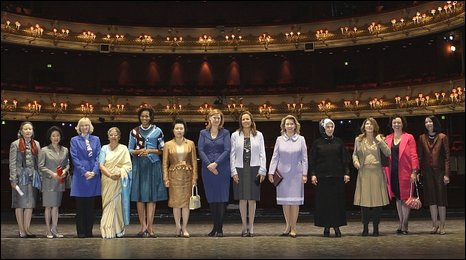 G20 spuses at the Royal Opera House