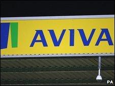 Aviva sign