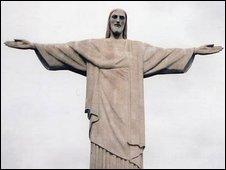 Statue of Christ on Rio de Janeiro's Corcovado Mountain