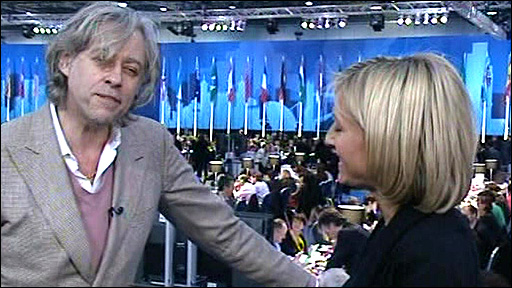 Bob Geldof and Emily Maitliss