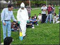 Demostración sobre pesticidas (Gentileza: Lilian Corra)