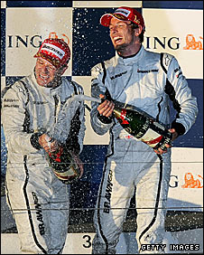 Rubens Barrichello and Jenson Button