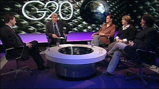 Douglas Alexander, Jeremy Paxman, Mark King, Barbara Stocking, Mark Thomas