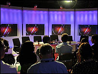 Studio during Schools Question Time 2008