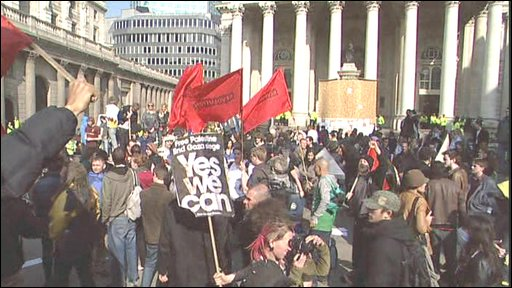 Rally outside Bank of England