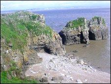 Cliffs at Flat Holm