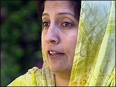 NWFP Social Welfare Minister Sitara Ayaz