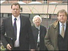 (l-r) Andrew Foster, Enid Foster, Stephen Langton