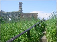 Abandoned building on Flat Holm