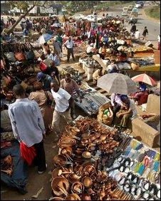 A Nairobi market