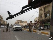 Baghdad roadblock