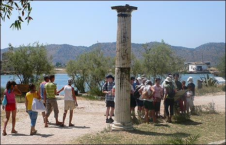 Butrint tourists (pic: Butrint Foundation)