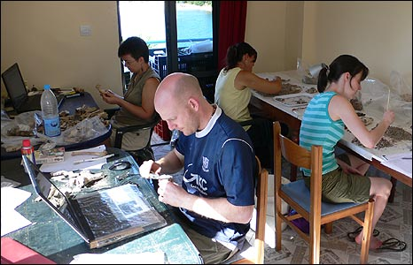 Specialist team at work (pic: Butrint Foundation)