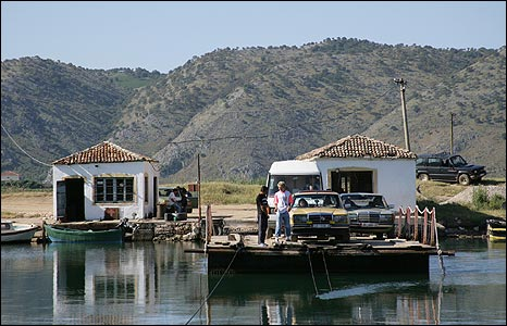 Vivari Channel car ferry (pic: Butrint Foundation)