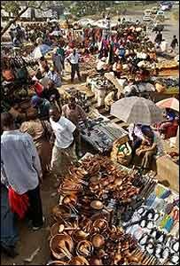 Un mercado de Nairobi