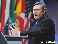 Gordon Brown at the G20 summit