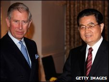 Prince of Wales and Chinese President  Hu Jintao