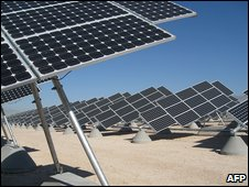 Solar farm in Nevada (AFP)