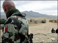 French soldiers in Wardak province