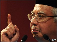 Najib Razak, March 09