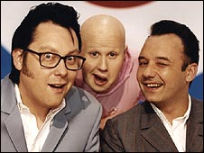 Shooting Stars regulars Vic Reeves, Matt Lucas and Bob Mortimer