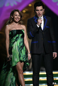Kylie Minogue and Mathew Horne