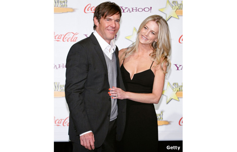 Dennis Quaid with wife Kimberly