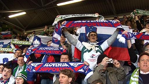 Slovenia fans at Windsor Park