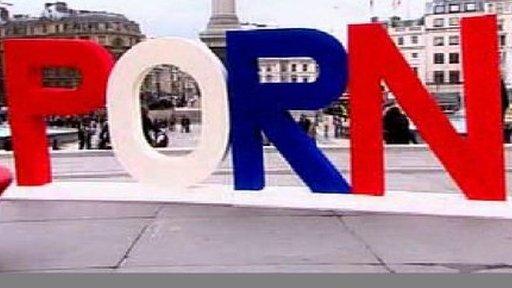PORN lettering