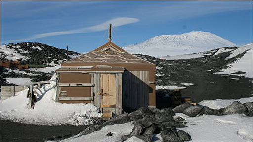 Shackleton's antarctic hut