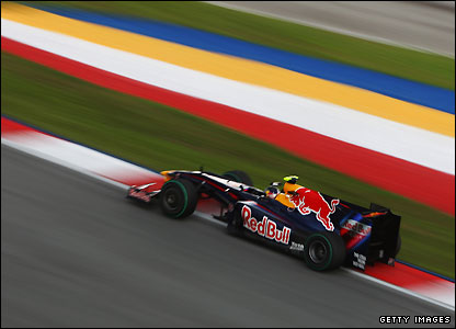 Sebatian Vettel in the Red Bull