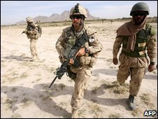 Canadian soldiers in Afghanistan, file image