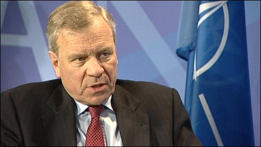 Jaap de Hoop Scheffer BBC NEWS South Asia New Afghan law worries Nato chief
